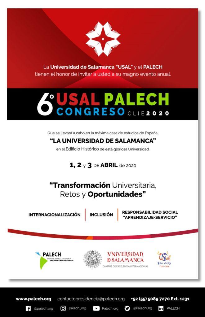 Invitación al Congreso CLIE USAL - PALECH 2020